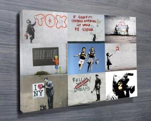 Banksy Art montage