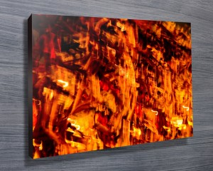 abstract print of fire