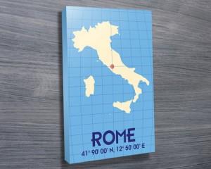 Rome Coordinates Typographic Word Art