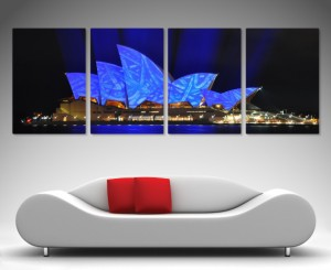 Opera House split canvas print