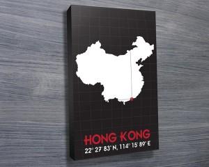 Hong Kong Coordinates Art