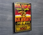 B.B King Vintage Concert Poster on Canvas