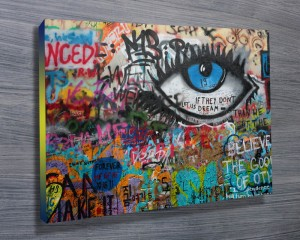 Steet art on canvas