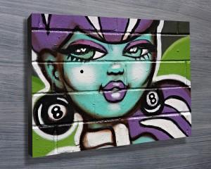 Street Art Canvas Print Sydney