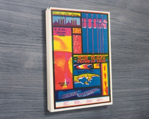 Doors at Santa Rosa Concert Poster on Canvas