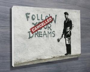 Banksy canvas art print