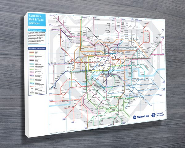 London Underground Map Wall Art