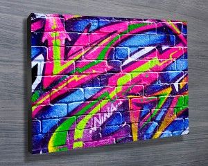 Colour Slashes Graffiti Canvas Wall ArtColour Slashes