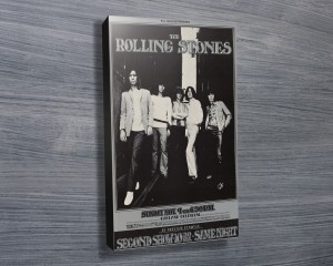 Rolling Stones poster on canvas