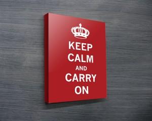 Keep Calm & Carry on Art
