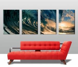 Crystal Waves 4 Panel Canvas