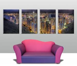 Hong Kong Split Panel Canvas Art