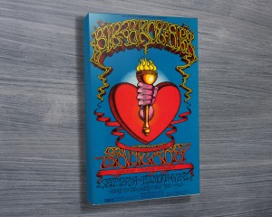 Heart and Torch Band Poster