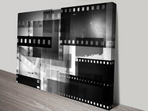 Abstract Polaroid Negative Canvas Art Print