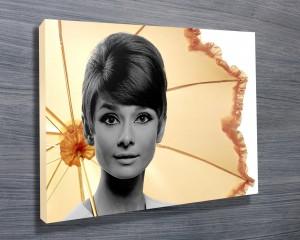 Audrey Hepburn Umbrella Art
