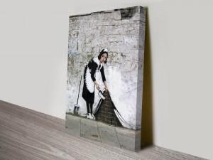 Banksy Maid Photo Artwork on Canvas
