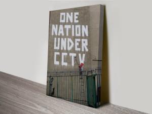 Banksy One Nation Canvas Print Australia