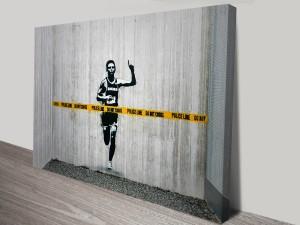 Banksy Police Line Canvas Wall Art Print