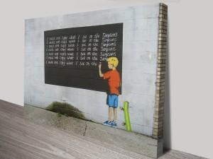 Banksy Simpsons Canvas Art Print Sydney