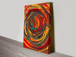 Cyclonic Colour Abstract Wall Canvas Art Print