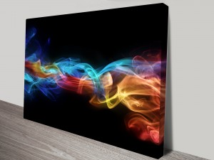Fire & Ice Abstract Canvas Wall Art