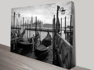 Gondolas in Venice Canvas Art Print