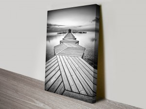Linear Path Abstract Black and White Art Print