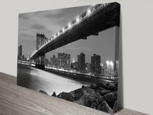 Manhattan Bridge New York Artwork on Canvas