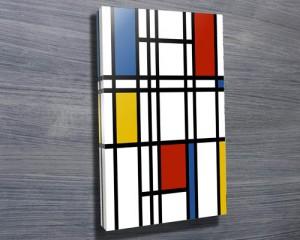 Mondrian canvas art print