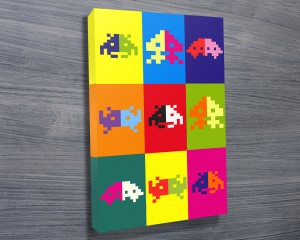 Space Invaders Warhol popart