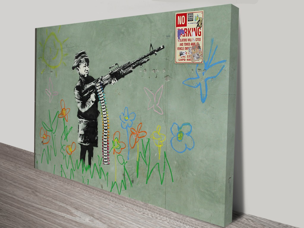 Banksy Child Soldiers Wall Art Print