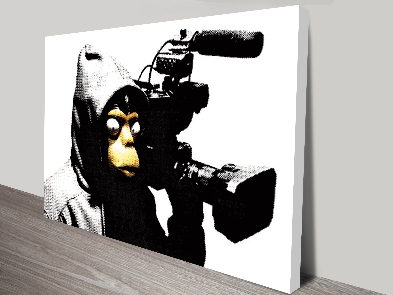 Wall Sticker Paper Banksy Film Ape Wall Art Print