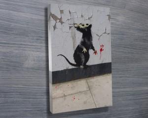 Banksy Rat Canvas Print