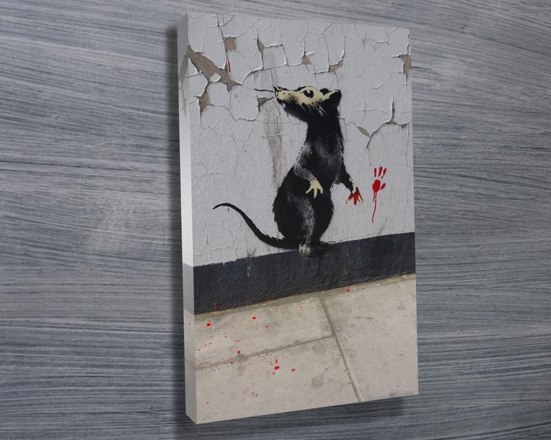 Banksy rat wall art for Banksy rat mural
