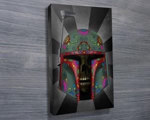 Boba Fett Dia de los Muertos Art