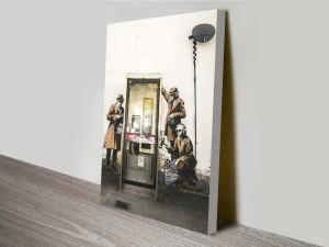 Banksy Phone Tap Canvas Print Australia