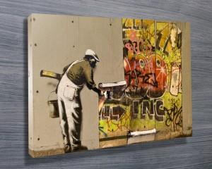 Banksy painter man