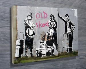 Banksy old skool print