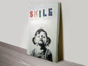 Banksy Smile Canvas Art Print