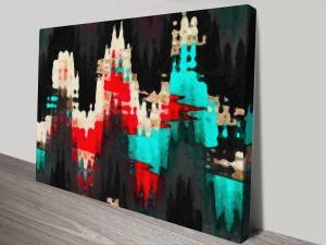 Abstract Peaks Canvas Print Australia