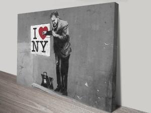 Banksy Love New York Artwork on Canvas