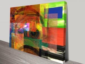 Eye See Conformity Abstract Canvas Prints Australia