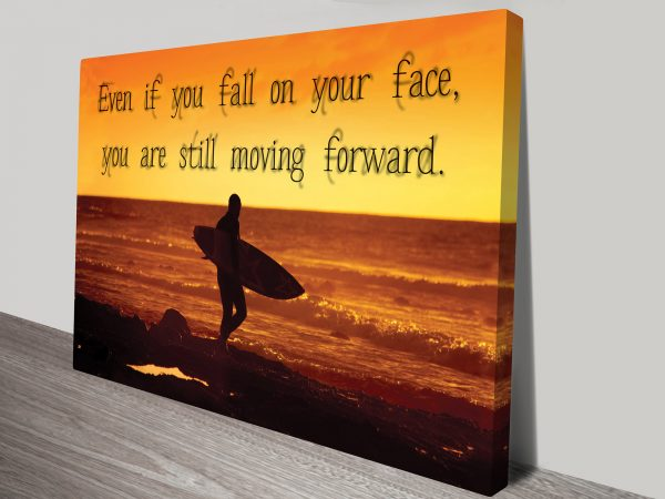 moving forward inspirational canvas prints