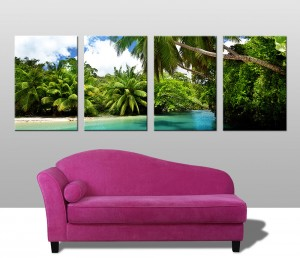 Papua New Guinea Paradise 4 panel canvas