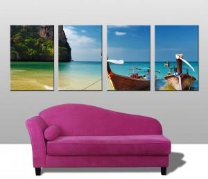 Thailand Paradise 4 panel canvas