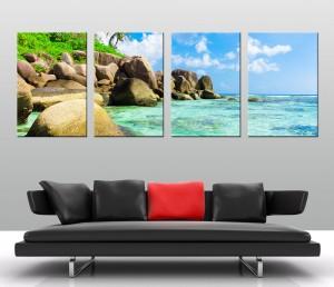 Tropical Paradise 4 panel canvas