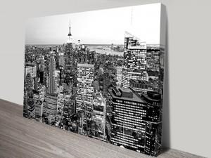 Aerial Manhattan Canvas Wall Art