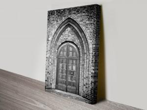 Ancient Church Doorway Canvas Print