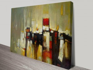 Daybreak Abstract Composition Artwork on Canvas