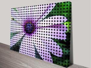 Floral Modern Art Print on Canvas